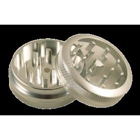 Młynek dwuczęściowy HAMMERCRAFT z magnesem (srebrny)