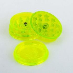 Plastikowy Młynek 3 częściowy Buddies 42 mm (Żółty)