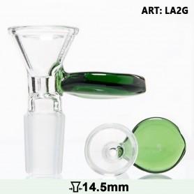 Szklany Cybuch z Zieloną Rączką 14.5 mm