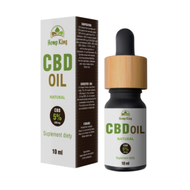 Olej konopny CBD - Natural 5% (500mg) - 10 ml