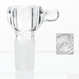 Kulisty cybuch ze szklanym sitkiem / 18,8 mm