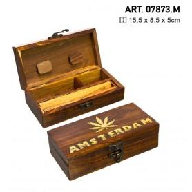 Średnia drewniana tacka Amsterdam -15cm x 8cm