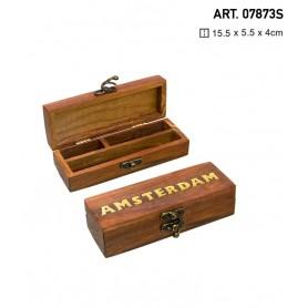 Mała drewniana tacka Amsterdam -15cm x 6cm