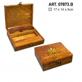 Duża drewniana tacka Amsterdam -17cm x 14cm