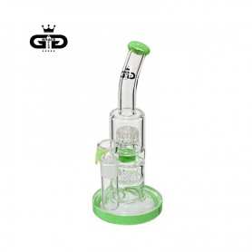 Bongo Grace Glass Double Bubble Green 26 cm