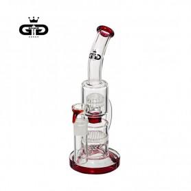 Bongo Grace Glass Double Bubble Red 26 cm